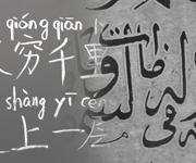 Verschiedene Schriftzeichen