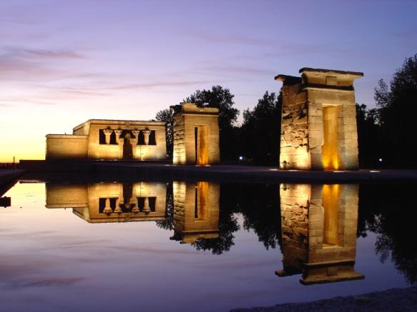 Der Templo de Debod in Madrid